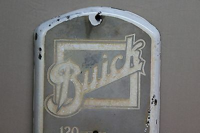 Scarce 1915 Buick Cars Porcelain Metal Thermometer  Sign  Gas Oil Ford