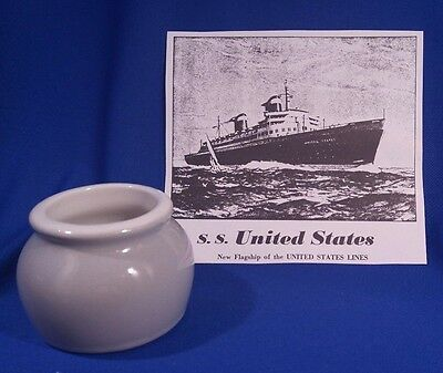 SS UNITED STATES HALL Gray Bean Pot 461 Individual Place Setting Made In USA EXC