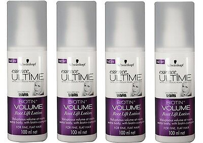 4 x SCHWARZKOPF 100mL ESSENCE ULTIME ROOT LIFT LOTION BIOTIN VOLUME Brand New