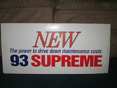 Vintage 1990's Exxon NEW 93 Supreme gas paper Sign 26 X 12 inches