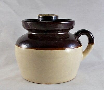 Vtg Lidded Bean Pot - R.R.P. Roseville OH Robinson-Ransbottom Pottery Crock