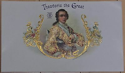 Theodoric The Great, Louis C. Wagner & Co. vintage embossed cigar box label