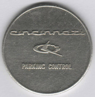 Cincinatti Parking Token T-11 Unit 25.7 Mm White Metal
