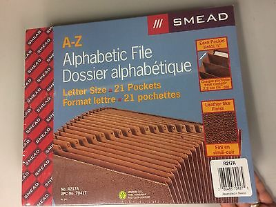 A-Z Smead 70417 Letter Size Expanding File 21 Pockets FREE SHIPPING