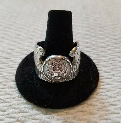 Sterling Silver Enlisted Aircrew Wings Ring Sz 12.5