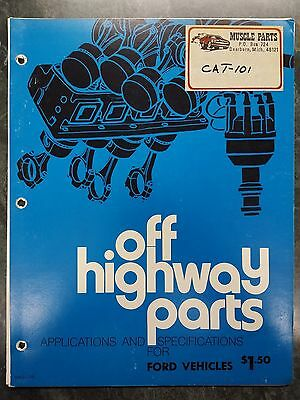 VINTAGE Original 1970's Off Highway Parts Ford Technical/Parts Manual Racing