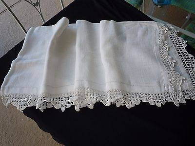 Vintage Crocheted Dresser Scarf, Curtain Valance,Bed Cover, Shabby Chic,Bedding