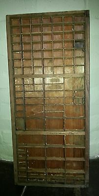 Vintage Newsprint Printers / Compositor's Type Setting Wooden Tray