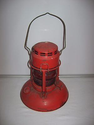 Vintage Dietz Traffic Gard No. 40 Syracuse NY Red Globe Oil Lantern