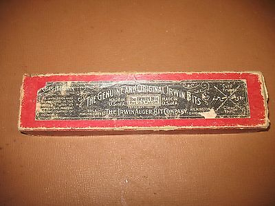 VINTAGE IRWIN No 2 EXPANSIVE WOOD BIT WITH BOX & PAPER DIRECTIONS
