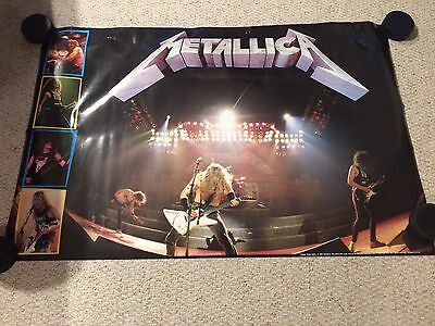 Metallica Master Of Puppets 1987 Era Poster,  Rare, Out Of print