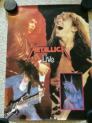 Metallica Live Ride The Lightning Era Import Poster, Rare, Cliff Burton & Kirk