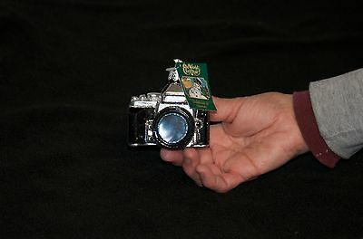 NEW Photographer Camera Ornament - Old World Christmas - Sparkly