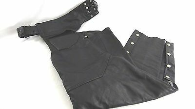 Women's Leather Motorcycle Chaps Size Large Made By Pro-Sport