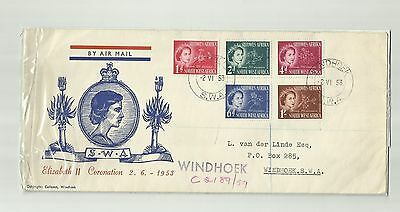 South West Africa 1953 Coronation Air Mail Commemorative Cover
