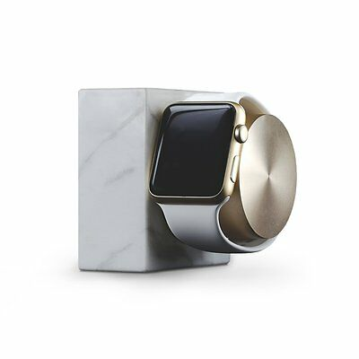 Native Union DOCK for Apple Watch (Luxury Tech) - Marble Weighted Charging Dock