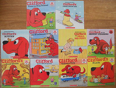 Clifford The Big Red Dog Bulk Book Pack - 10 New Picture Books - Bridwell
