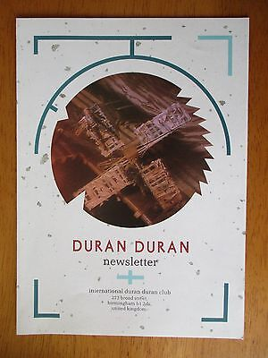 Duran Duran Official Fan Club Newsletter Christmas 1984