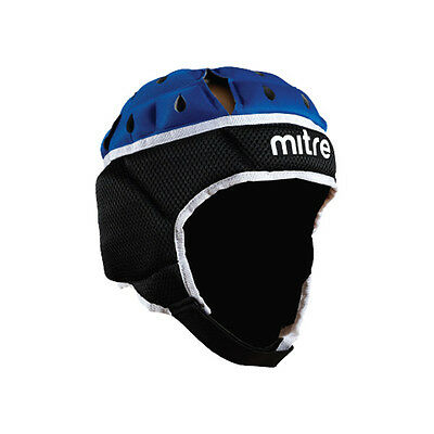 Mitre Maxi Cool Rugby Head Guard - Black/Blue - X Large