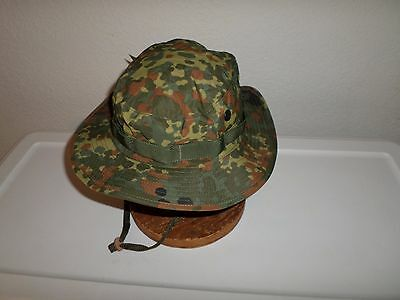 NEW GERMAN FLECKTARN Camouflage Boonie Hat Safari Hat Size Medium ... 09e53bedc2e2