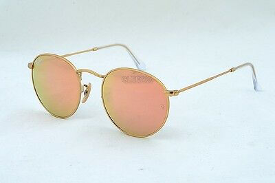 New Ray-Ban 3447 RB3447 Round Metal 112/Z2 Matte Gold/Cooper Flash Lens 50MM