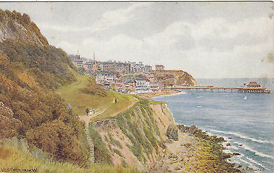 Artist Drawn, View From West, VENTNOR, Isle Of Wight - A. R. Q.