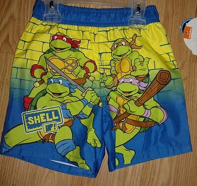 Nickelodeon Tmnt Baby Boys Size 24 Months Swim Shorts/trunks Nwt