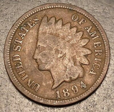 1894 US Indian Cent D85