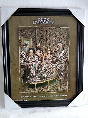 """Duck Dynasty Framed Poster Print FAMILY FIRST BUSINESS 2ND 16""""x20"""" Trends S52205"""