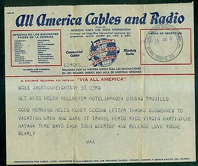 Vintage All America Cables and Radio Telegram - America Cable & Radio Corp.