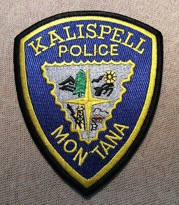 MT Kalispell Montana Police Patch