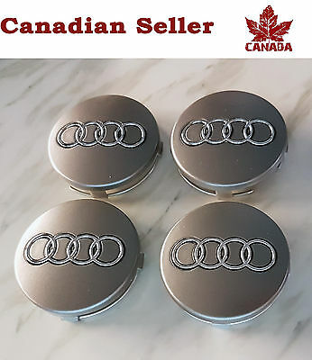 "Audi Wheel Center Cap - Mat Grey 69mm (2.75 """").  All Models. A4 A5 A6 Q5 Q7 S4"