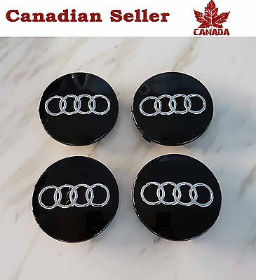 "Audi Wheel Center Cap - Black 60mm (2.36 """").  All Models. A4 A5 A6 Q5 Q7 S4"