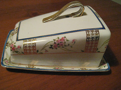 Antique/Vintage Nippon Covered Cheese Dish Hand Painted Gilded