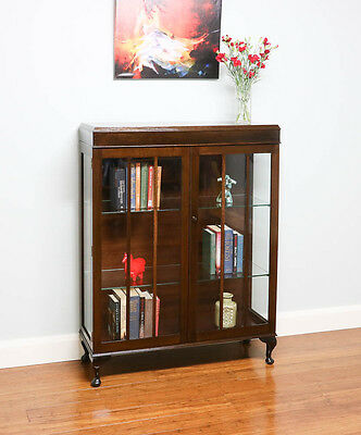 Antique Vintage Library Bookcase / Glass Display Cabinet – Astragal