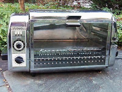 RETRO Vintage Sears Kenmore 50's Automatic Rotisserie Oven Broiler Grill