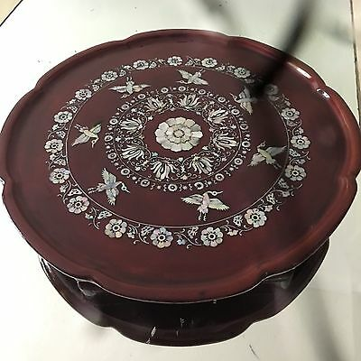 Antique cooffe/tea table iInlaid Mother of Pearl