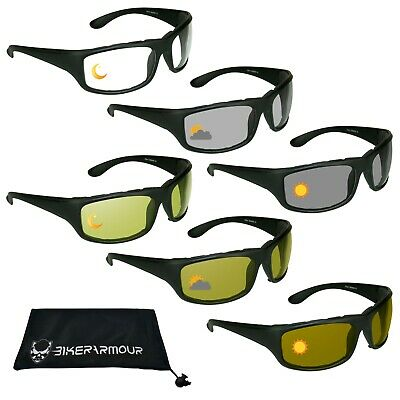 18a7441fd2 Transition Motorcycle Wrap Sunglasses Photochromic Mens Day Night Riding  Glasses