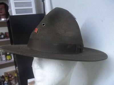 Vintage ESTATE FIND BOY SCOUT TROOP LEADER HAT SIZE 7 1/2