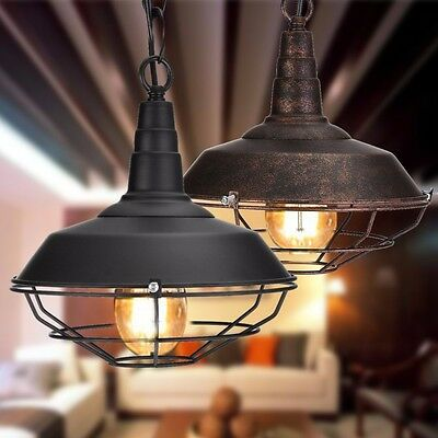 Retro Industrial Ceiling Pendant Light Modern Home Chandelier Fixture Lamp US
