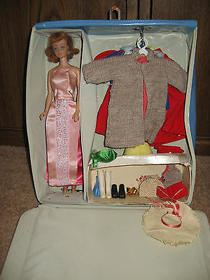 Vintage MIDGE doll, with carrying case, clothing, and accessories
