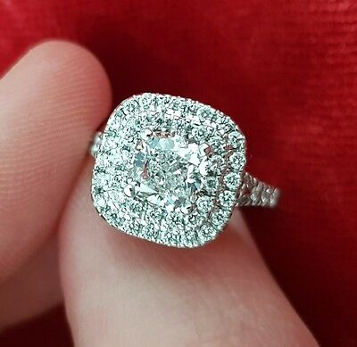 1.01 Ct Cushion Cut Diamond Engagement ring Value $19,000