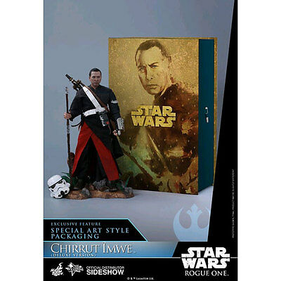 "Star Wars Rogue One Chirrut Imwe Deluxe 12"" 1:6 Scale Action Figure NEW Hot Toys"