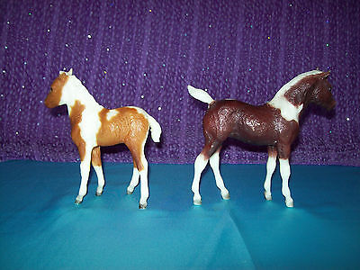 Breyer Traditional PINTO lot of 2 Foals; #19 STORMY  #846 ROUGH DIAMOND