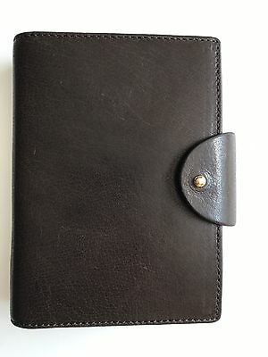Filofax Personal Pocket Charleston in Brown Leather 6 Ring Organizer- New