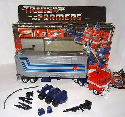 Transformers G1**optimus Prime 99 % Comp**original 80's Vintage**must See**boxed