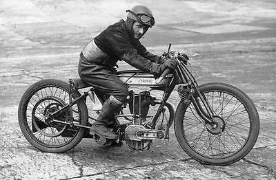 Vintage Norton Motorcycle Rider Racer Biker Photo British Image 1145