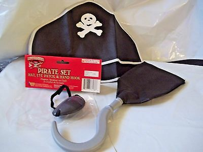 Pirate Set Child Play set Costume Accessories Hat Eye Patch Hand Hook