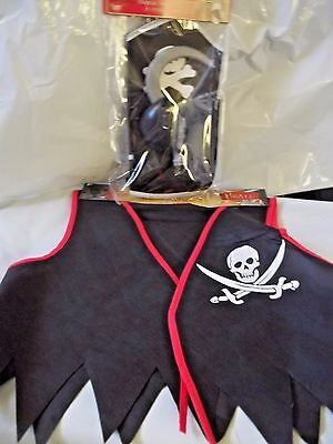 Pirate Vest and Set  Costume Accessories Hat Eye Patch Hand Hook