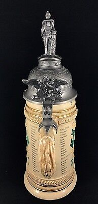 Rare German Infantry Beer Stein Early 1900's